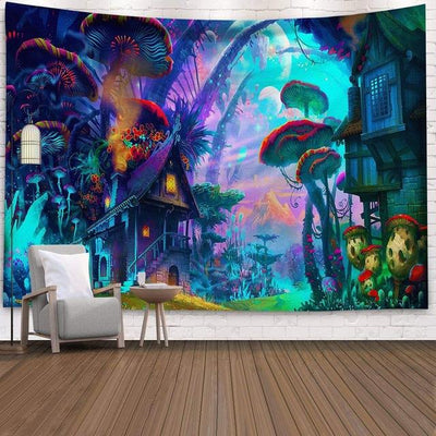 Lost In Wonderland Tapestry tapestry nirvanathreads 80x60 inches / 200x150 cm