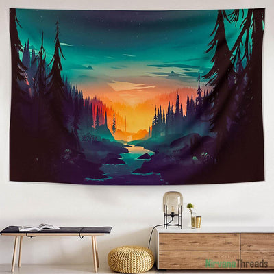 Painted Valley Tapestry-nirvanathreads
