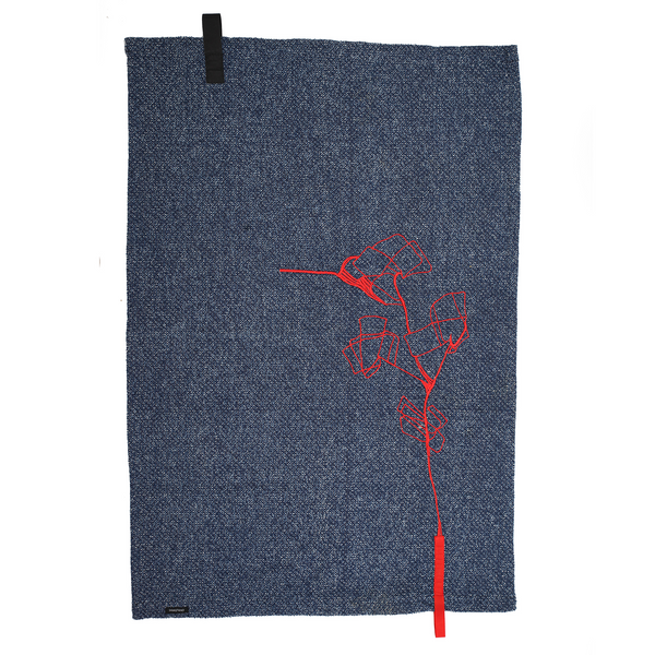 Kit de 4 unidades denim flor