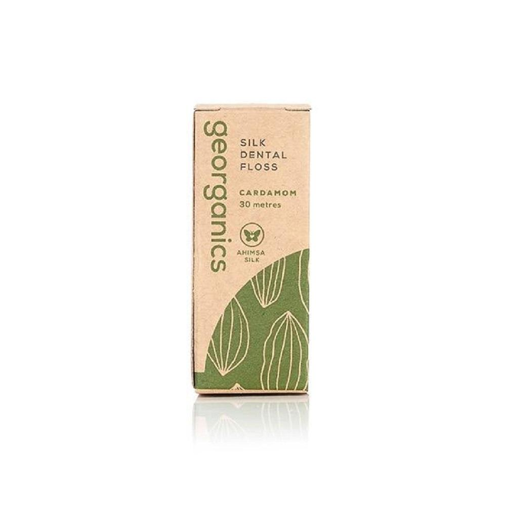 Georganics Natural Floss, Cardamom, 30m + Dispenser - Kind Living Store