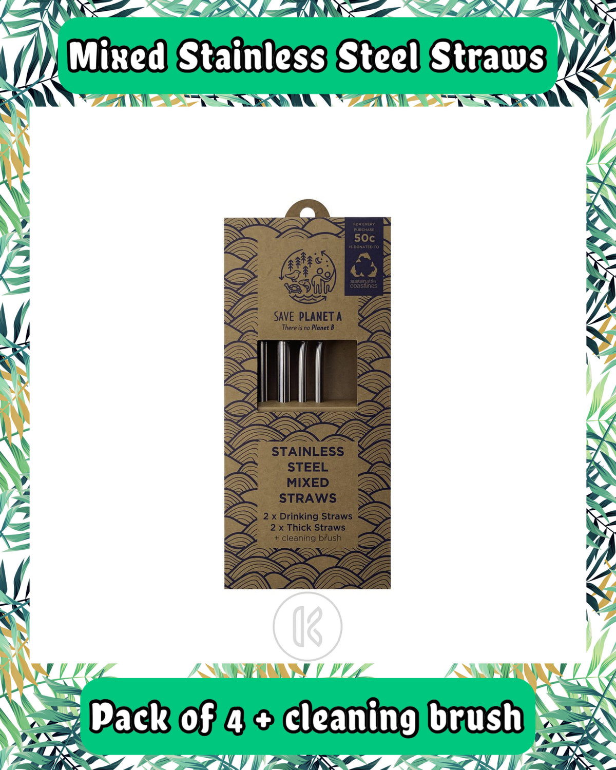 Mixed Stainless Steel Straw Pack - Kind Living Store