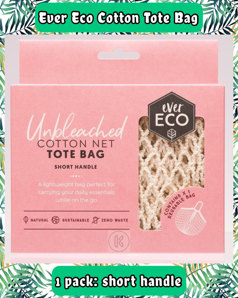 Ever Eco Organic Cotton Net Tote Bag - Short Handle - Kind Living Store