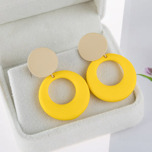 Fashion Summer New Style  drop earrings Sweet Temperament All-match  Pendant Earring Trendy Rubber  Stud earring for woman