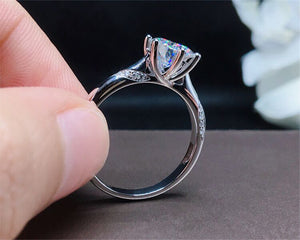 95% OFF! With Certificate Luxury 1 Carat Lab Diamond Moissanite Gemstone Rings Silver 925 Jewelry Bridal Wedding Rings for Women