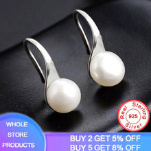 Load image into Gallery viewer, YANHUI Natural Pearl Earrings 925 Sterling Silver Stud Earrings Gift For Women Cute High Heels Shape Earrings Fashion Jewelry