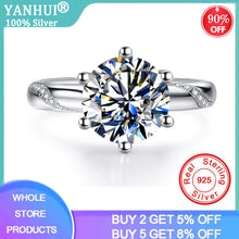 Load image into Gallery viewer, 95% OFF! With Certificate Luxury 1 Carat Lab Diamond Moissanite Gemstone Rings Silver 925 Jewelry Bridal Wedding Rings for Women