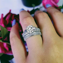 Load image into Gallery viewer, YANHUI New Arrival 100% Real 925 Sterling Silver Finger Ring Set For Female Super Luxury Gifts For Women Birthday Party Jewelry