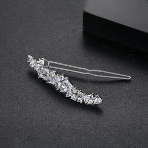 LUOTEEMI Design High-quality Hairpins for Women Wedding Hair Accessories Exquisite Crystal Rhinestone Clips Jewelry Female Gift