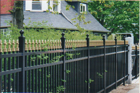 Aluminum Metal Fencing Style No. 111 with Majestic Finials