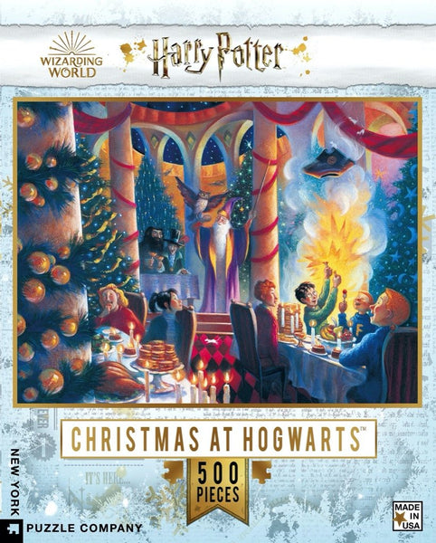 Puzzle Christmas at Hogwarts Harry Potter New York Puzzle Company 500 pièces