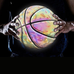 HOT SALE -Holographic Glowing Reflective Basketball-Buy 2 Free Shipping & Save$16