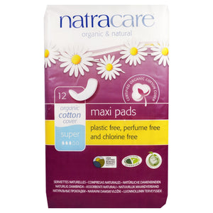 NatraCare Organic & Natural Maxi Pads Super 12 Pads