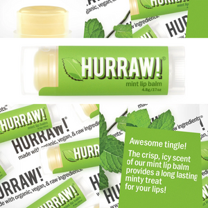 Hurraw! Mint Lip Balm Organic, Raw & Vegan