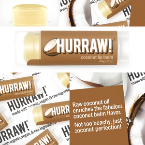 Hurraw! Coconut Lip Balm Organic, Raw & Vegan