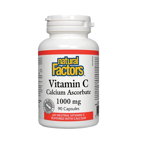 Natural Factors Vitamin C 1000 90 Capsules Calcium Ascorbate