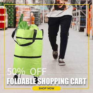 🔥Hot Sale🔥2 In 1 Foldable Shopping Cart