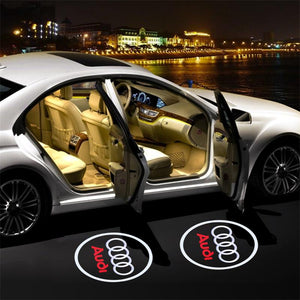 (Big Sale) For Audi Welcome LED Car Logo Lights Light Door Light Projector Welcome Accessories Fit for All Model
