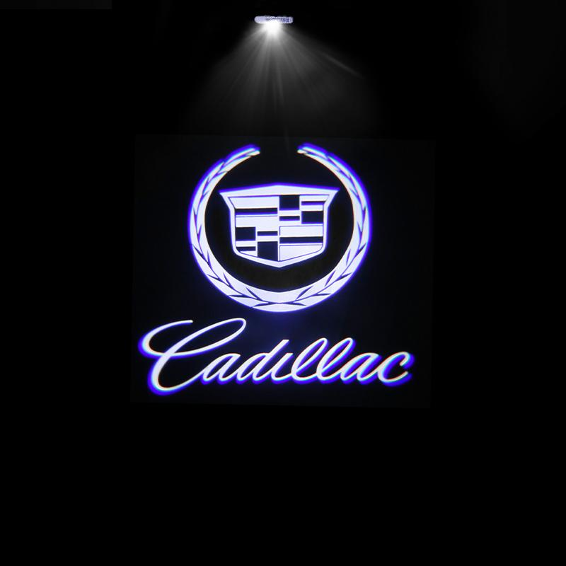 (Buy 2 Get 10% Discount) For Cadillac HD Welcome LED Car Logo Lights Light Door Light Projector Welcome Accessories Fit for All Model