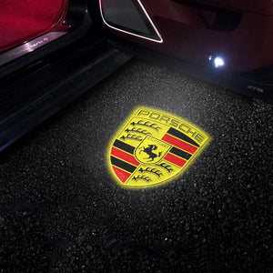 (Buy 2 Get 10% Discount) For Porsche HD Not Fade Welcome LED Car Logo Lights Light Door Light Projector Welcome Accessories Fit for All Model