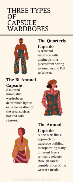 three types of capsule wardrobes