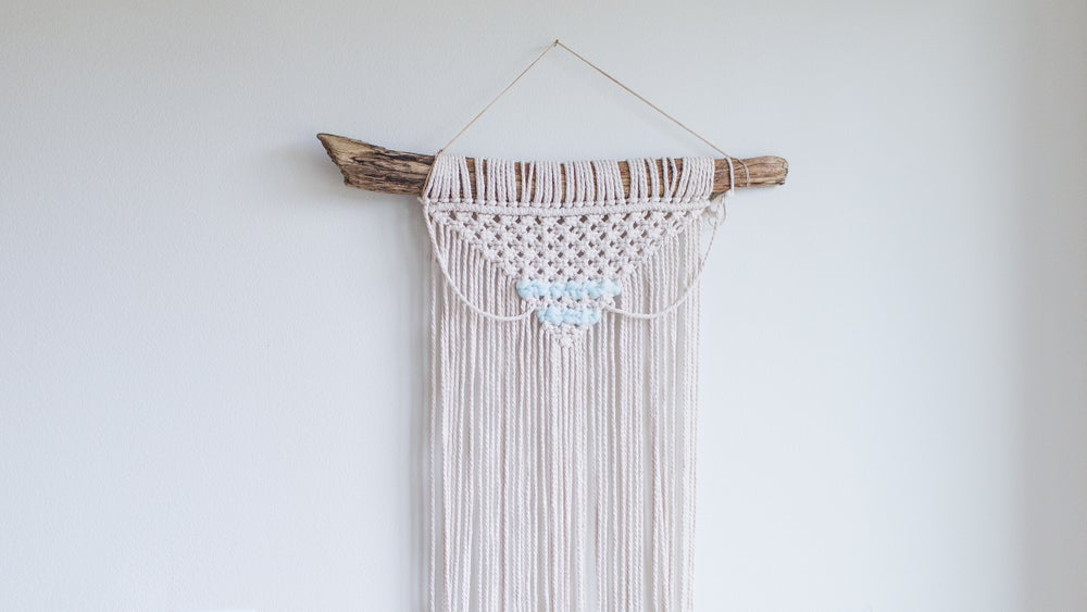 Claire Macrame | Ice Blue | Medium Wall Hanging | 2 Colors