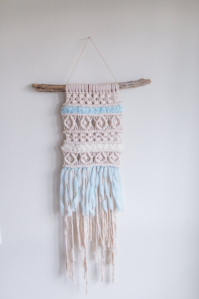 Adelaide Macrame | Ice Blue | Medium Wall Hanging | 2 Colors