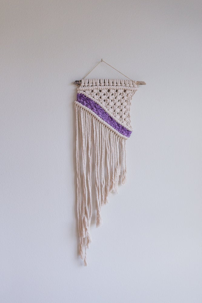 Riverside Macrame Wall Hanging | African Violet | 2 Colors