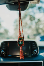 Load image into Gallery viewer, Macrame Essential Oil Car Diffuser | Hanging Oil Bottle Holder | Essential Oil Accessory | Gifts for Her | Fiber Gifts