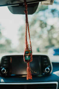 Macrame Essential Oil Car Diffuser | Hanging Oil Bottle Holder | Essential Oil Accessory | Gifts for Her | Fiber Gifts