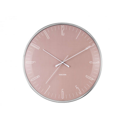 Wall clock dragonfly dusty pink