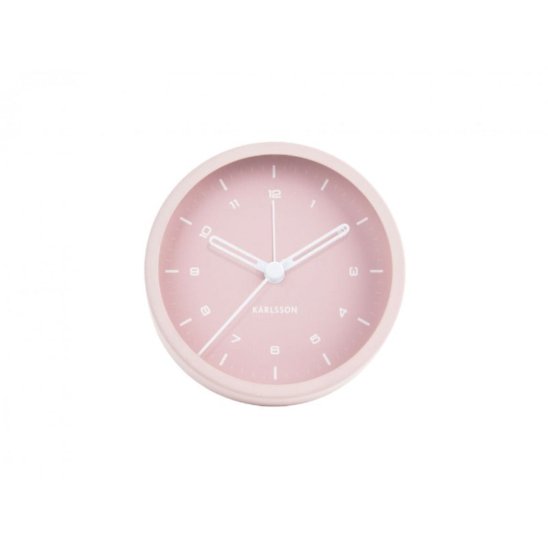 Alarm clock tinge light pink