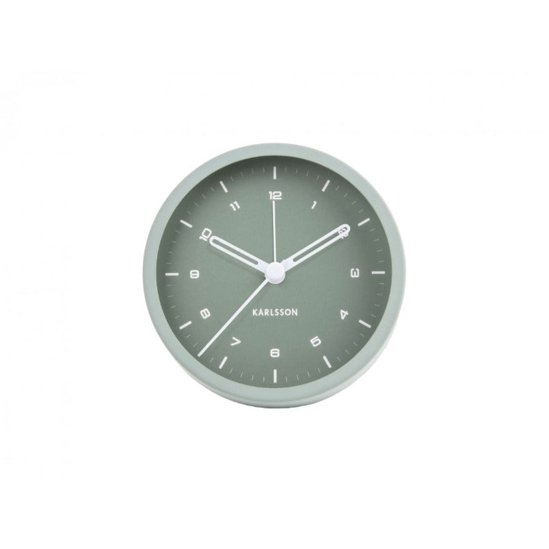 Alarm clock tinge green