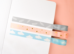 Blue Clouds Washi