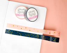 Load image into Gallery viewer, Pink Gold Foil Stars Washi