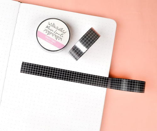 Black Grid Washi - Maisie Lane Co.
