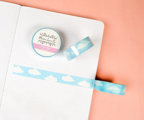 Blue Clouds Washi - Maisie Lane Co.