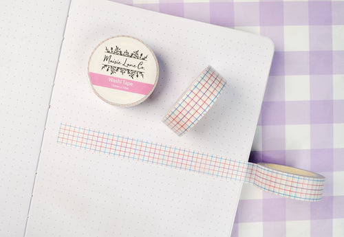 Colorful Grid Washi - Maisie Lane Co.