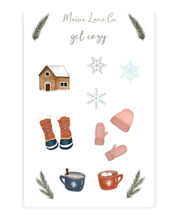 Cozy Cabin Sticker Sheet - Maisie Lane Co.