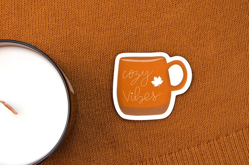 Cozy Vibes Mug Sticker - Maisie Lane Co.