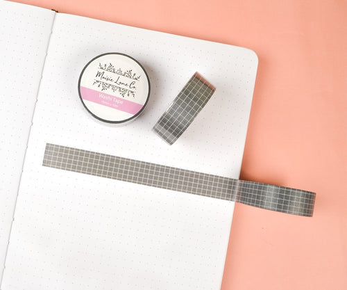 Dark Gray Grid Washi - Maisie Lane Co.