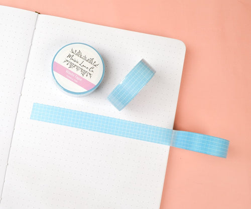 Light Blue Grid Washi - Maisie Lane Co.