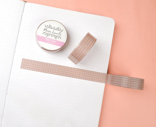 Light Brown Grid Washi - Maisie Lane Co.