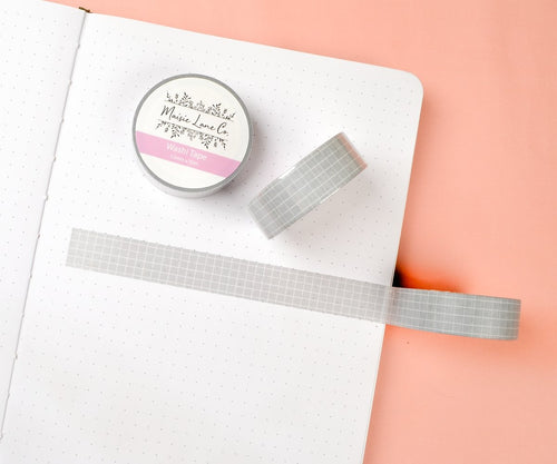 Light Gray Grid Washi - Maisie Lane Co.