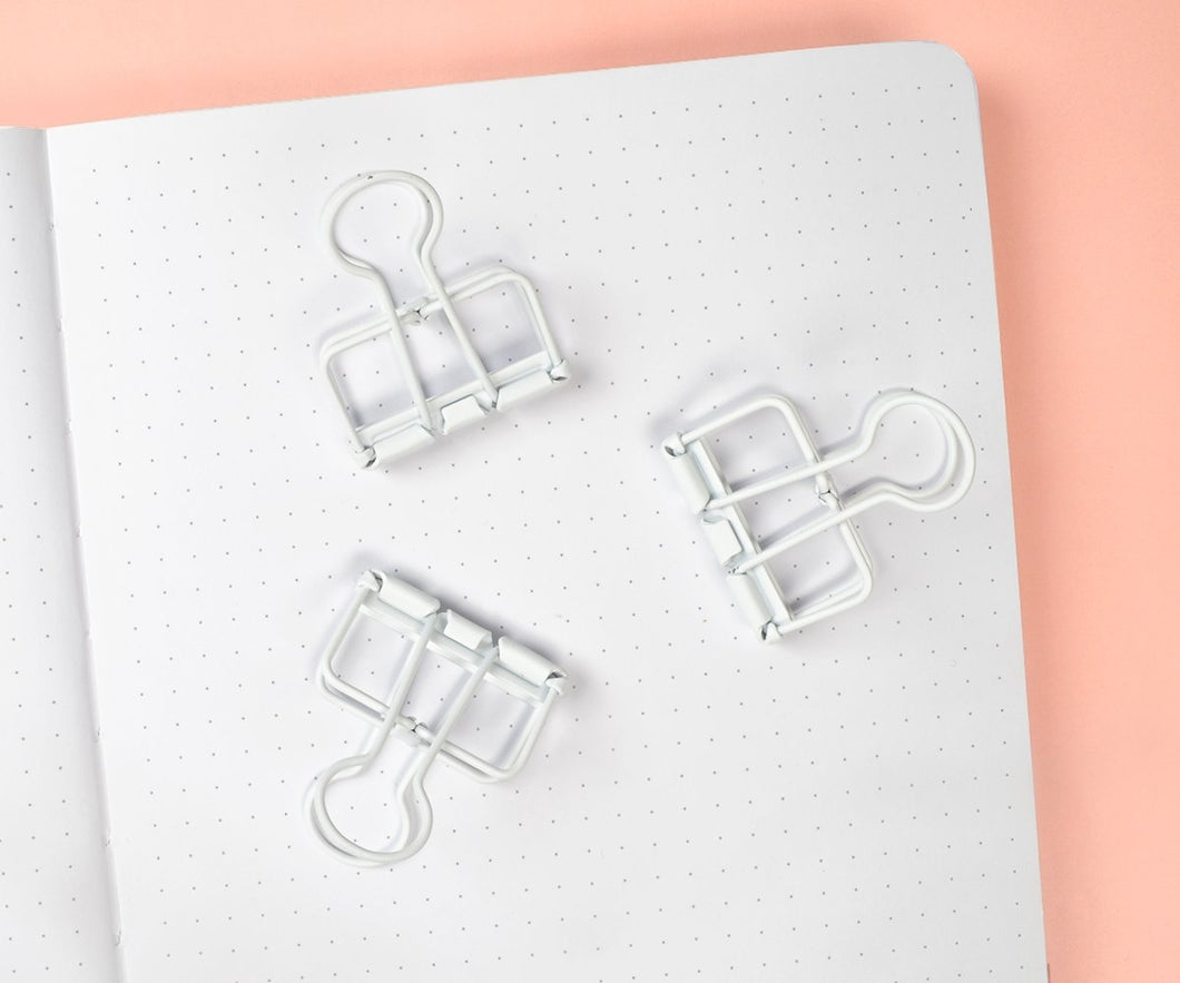 Matte White Binder Clips - Maisie Lane Co.