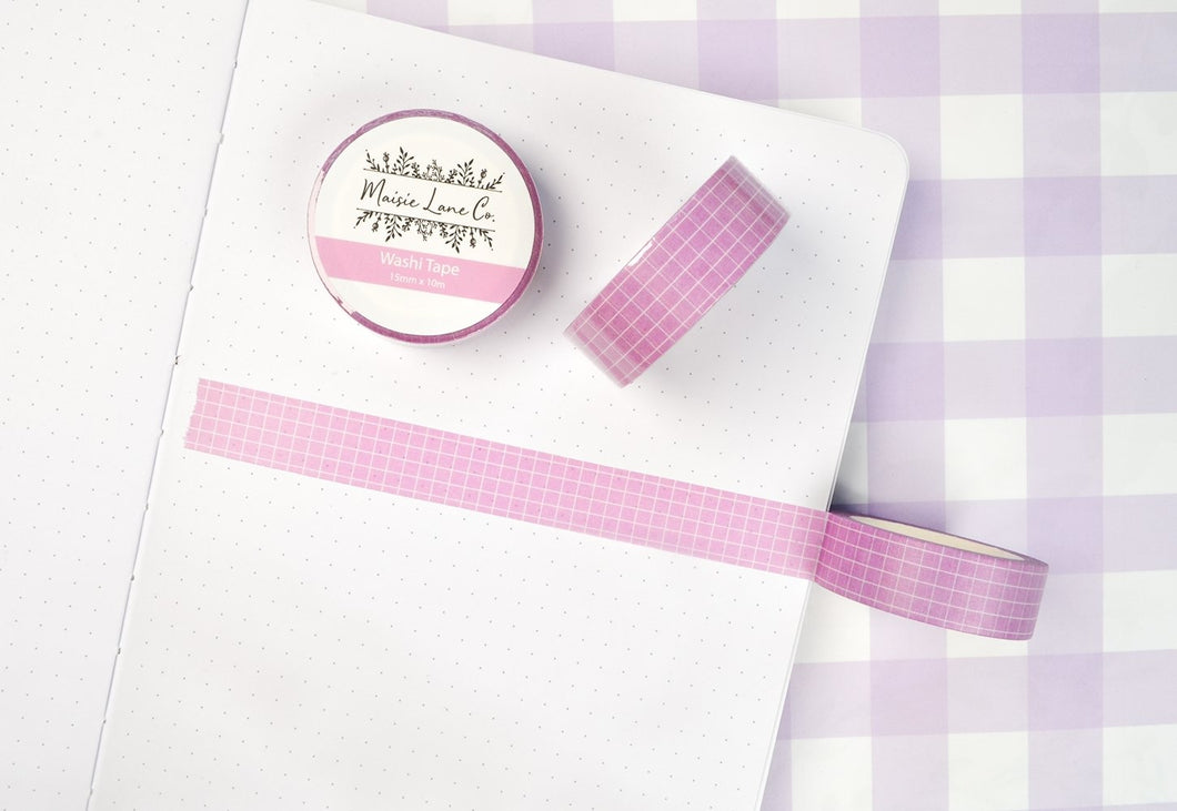 Purple Grid Washi - Maisie Lane Co.