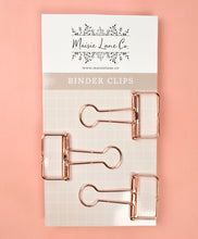 Load image into Gallery viewer, Rose Gold Binder Clips - Maisie Lane Co.