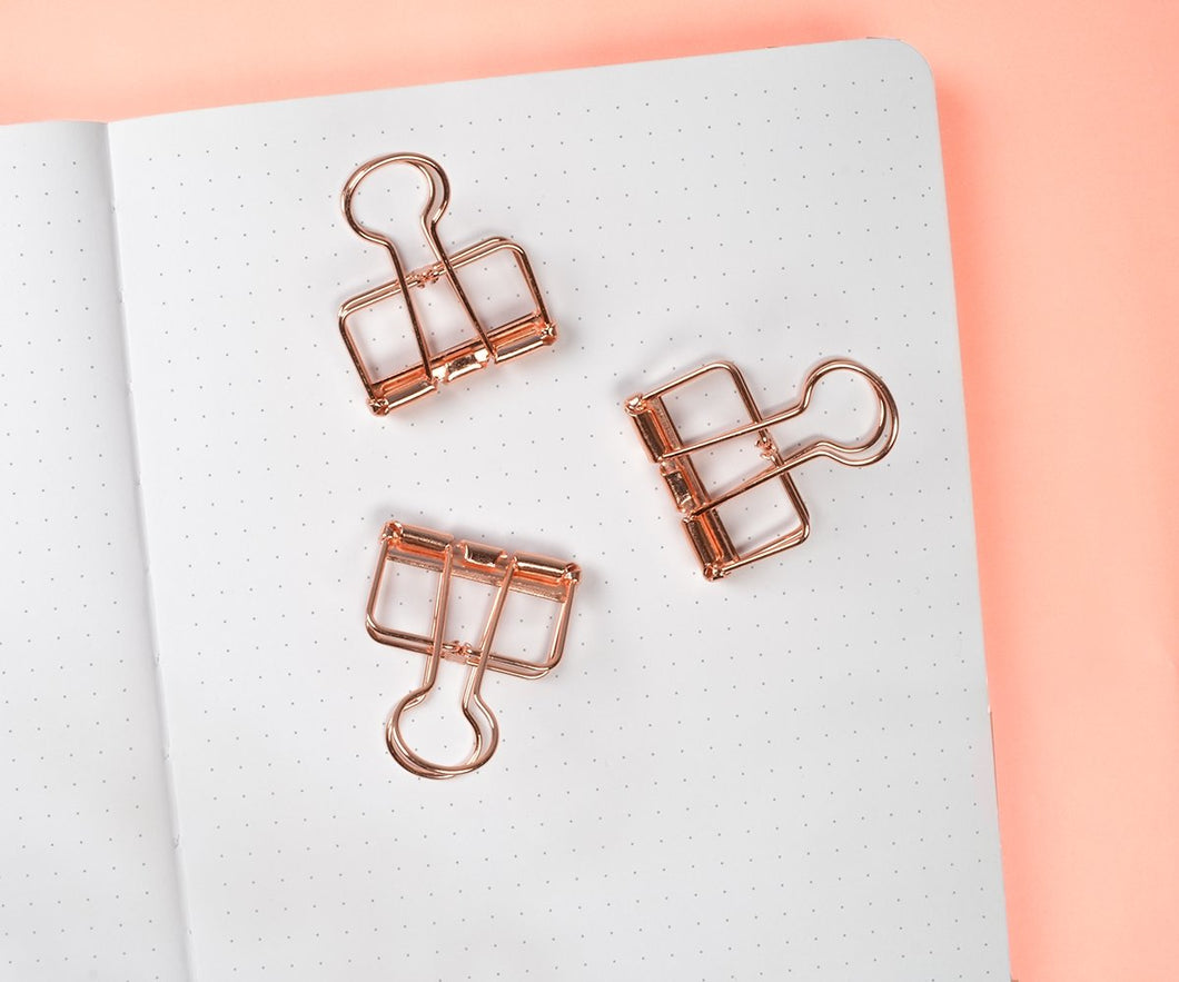 Rose Gold Binder Clips - Maisie Lane Co.
