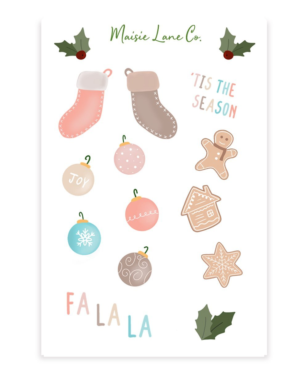 'Tis the Season Sticker Sheet - Maisie Lane Co.