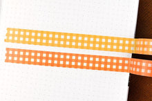Load image into Gallery viewer, Yellow Gingham Washi Tape - Maisie Lane Co.
