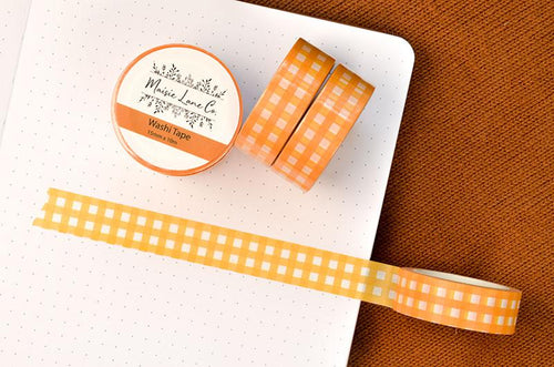 Yellow Gingham Washi Tape - Maisie Lane Co.